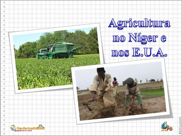 Agricultura no Níger e nos E.U.A.<br />