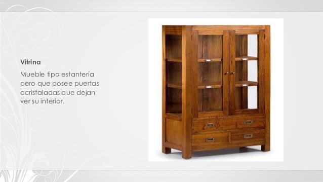 Tipos clasificaci n y estilos de muebles for Estilos de muebles para sala