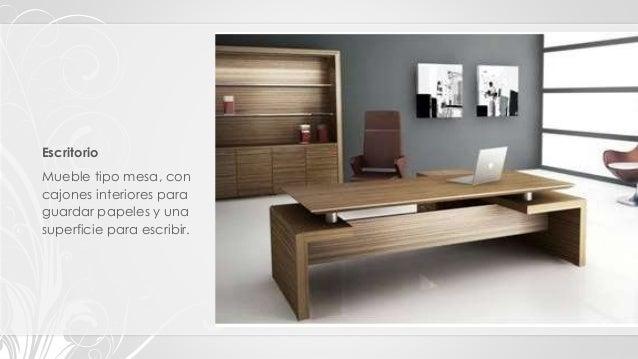 Tipos clasificaci n y estilos de muebles - Mesa escritorio con cajones ...