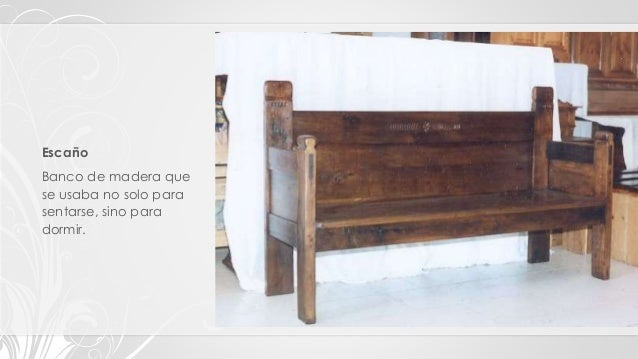 Tipos clasificaci n y estilos de muebles - Fotos de bancos para sentarse ...