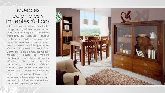 muebles de sala de estilo colonial Tipos Clasificacin Y Estilos De Muebles