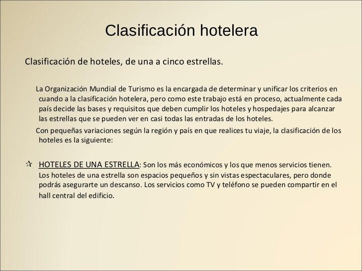 Tipos de alojamiento for Tipos de servicios de un hotel