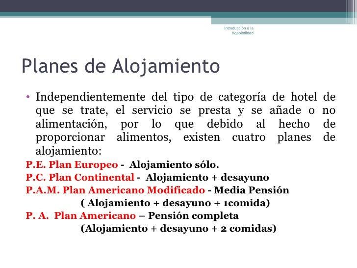 Tipos de alojamiento clasificaci n hotelera y planes de for Tipos de servicios de un hotel
