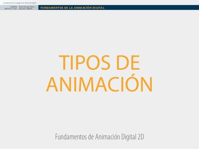 Fundamentos del Lenguaje en la Animación Digital  DISEÑO Paolo Arévalo Ortiz GRAFICO /2013 Docente UNACH  FUNDAMENTOS DE L...
