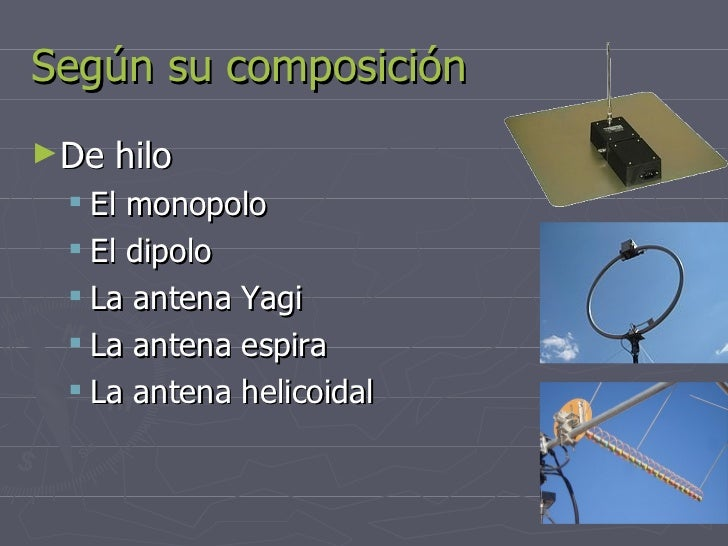 Tipos de antenas Slide 2