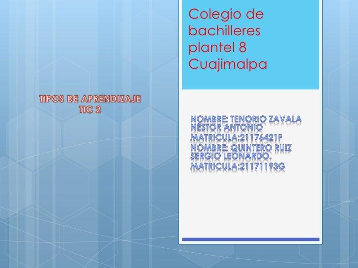 Colegio debachilleresplantel 8Cuajimalpa