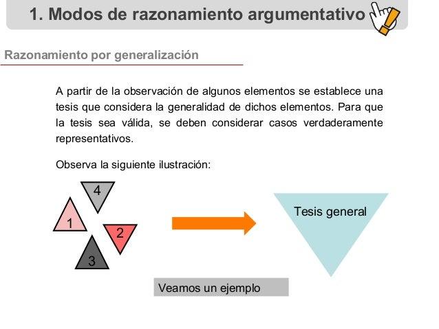A partir de la observación de algunos elementos se establece una tesis que considera la generalidad de dichos elementos. P...