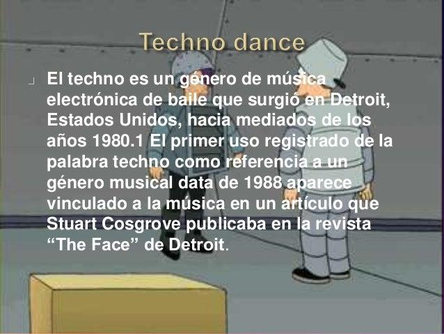 La música dance, o simplemente el dance, es un conjunto de géneros de música electrónica marcadamente rítmica orientada pr...
