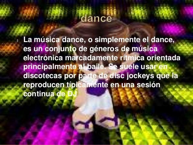 El dance pop es un estilo de música de baile y un subgénero del pop, que se desarrolló a partir de la música synth pop y p...