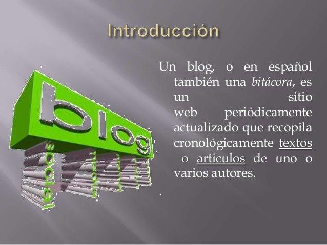 Tipos de blogs Slide 2