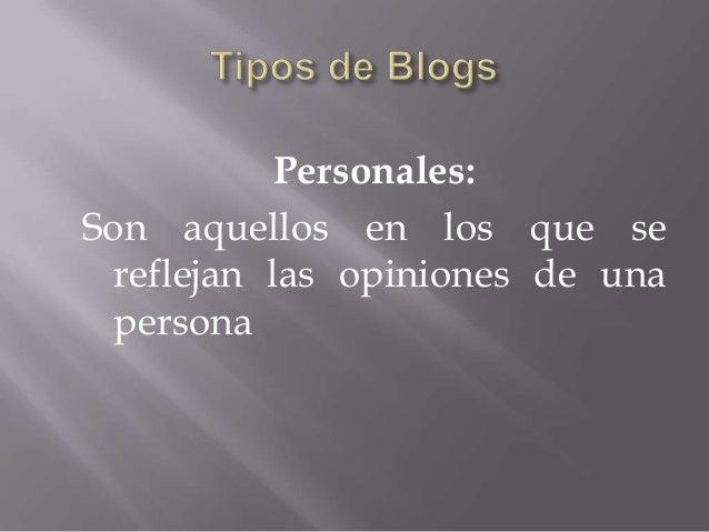 Tipos de blogs Slide 3