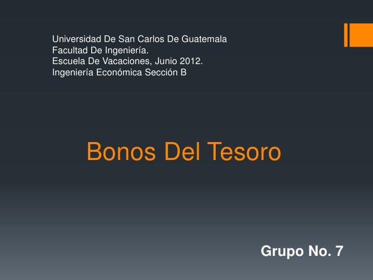 Universidad De San Carlos De GuatemalaFacultad De Ingeniería.Escuela De Vacaciones, Junio 2012.Ingeniería Económica Secció...