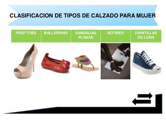 Tipos de calzado para mujer Selena Vega