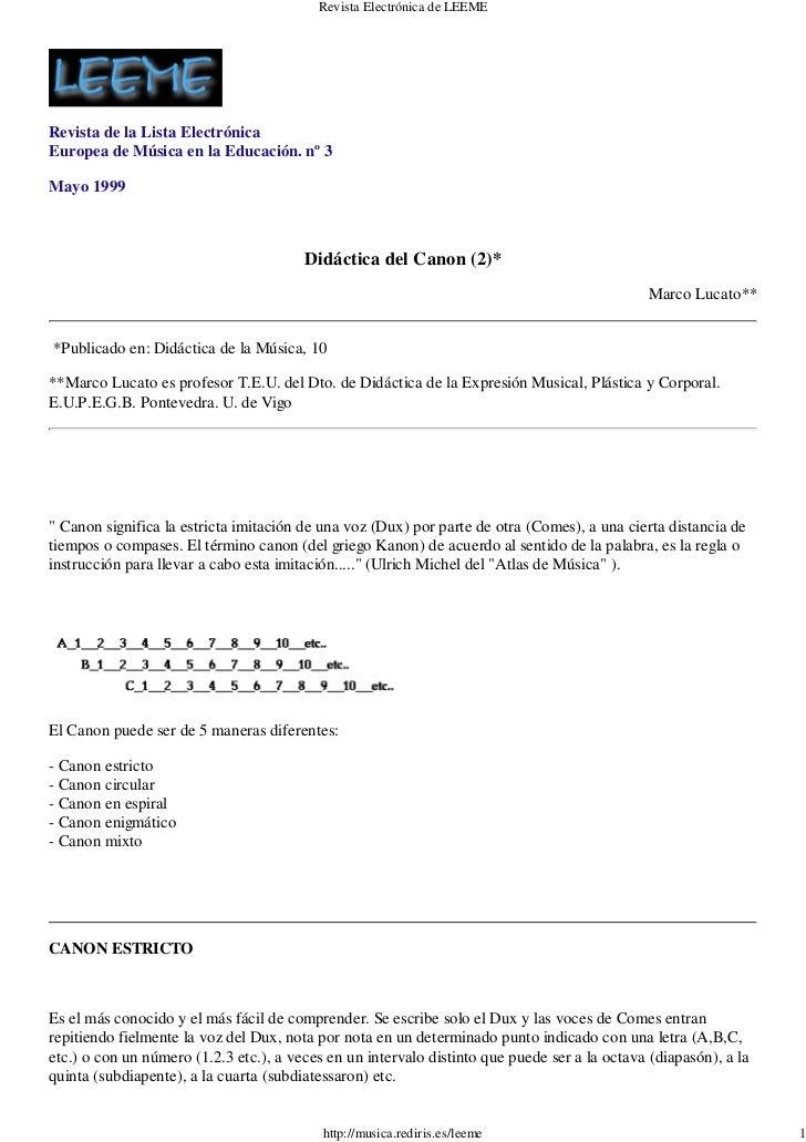Revista Electrónica de LEEMERevista de la Lista ElectrónicaEuropea de Música en la Educación. nº 3Mayo 1999               ...