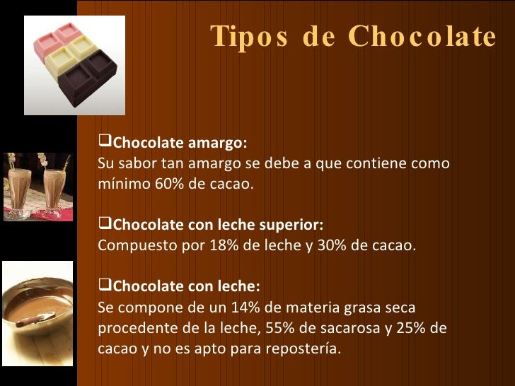 Tipos de chocolate y maridaje1 for Tipos de estanques para acuicultura