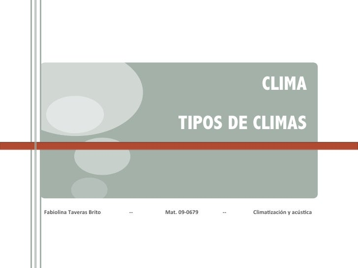 CLIMA                                                                                                                     ...