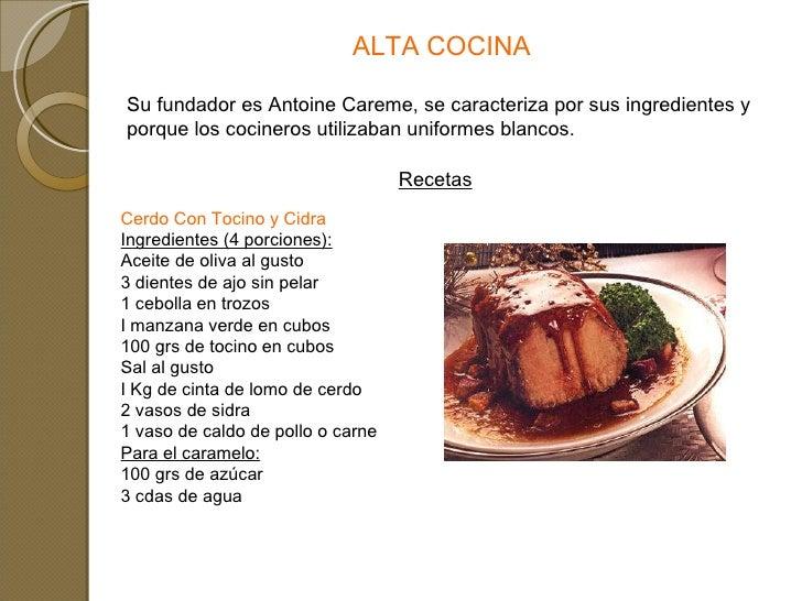 Tipos de cocina Cocinar con 5 ingredientes
