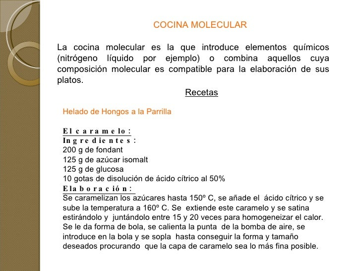 Tipos de cocina for Cocina molecular definicion