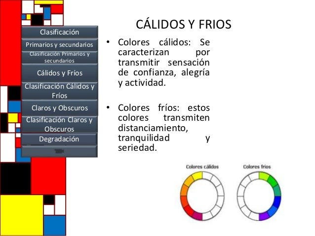 Tipos de colores y clasificación