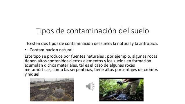 Tipos de contaminaci n del suelo for Tipo de suelo 1