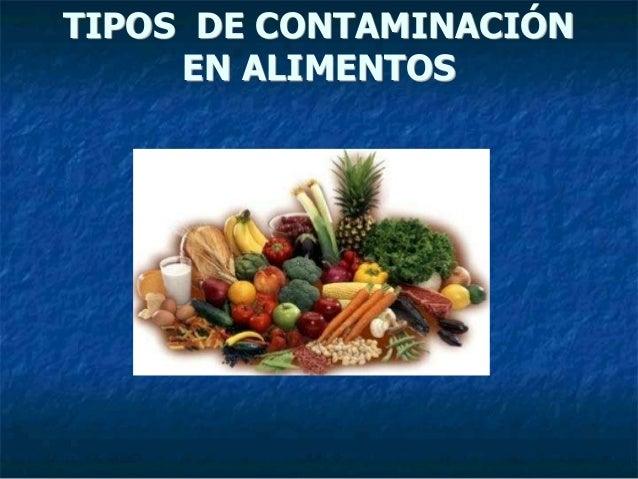 Tipos de contaminaci n en alimentos for Tipos de mobiliario urbano pdf