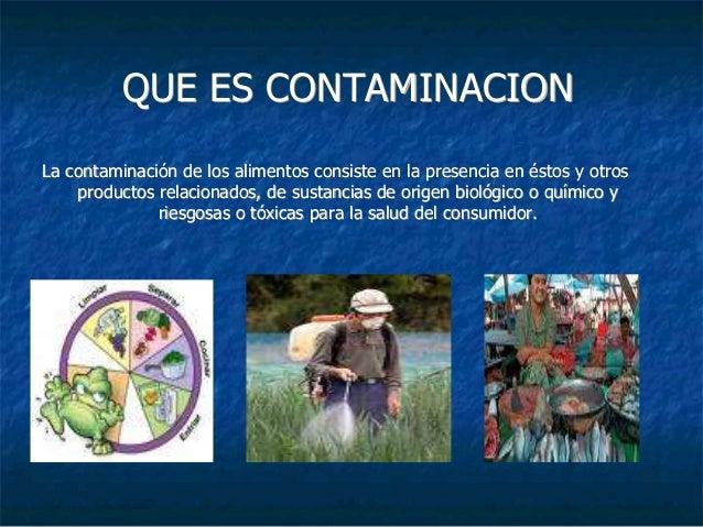 Tipos de contaminaci n en alimentos - Fuentes de contaminacion de los alimentos ...
