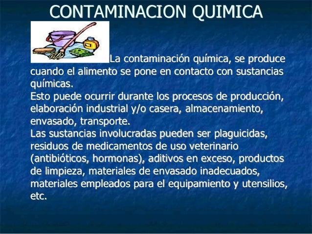 Tipos de contaminaci n en alimentos for La quimica y la cocina pdf