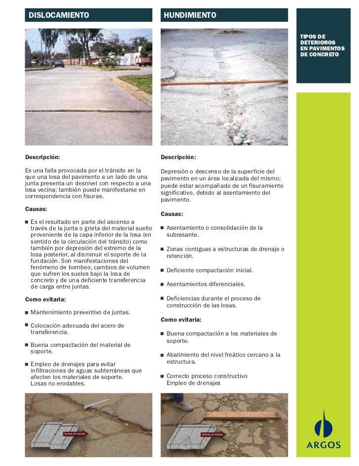 Tipos de deteriorio en pavimentos de concreto - Clases de pavimentos ...