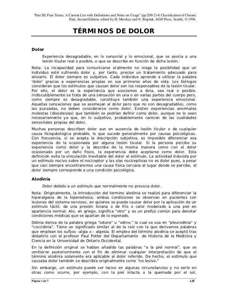 ALODINIA DEFINICION PDF