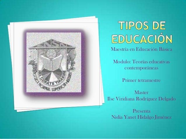 Maestría en Educación BásicaModulo: Teorías educativascontemporáneasPrimer tetramestreMasterIlse Viridiana Rodríguez Delga...