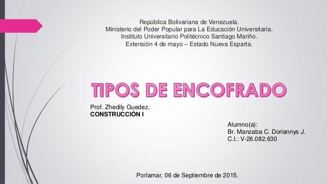 República Bolivariana de Venezuela. Ministerio del Poder Popular para La Educación Universitaria. Instituto Universitario ...