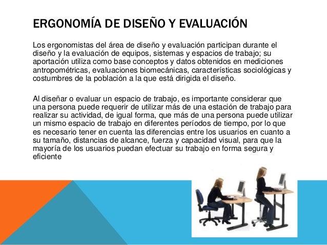 Tipos de ergonomia for Ejemplos de muebles ergonomicos