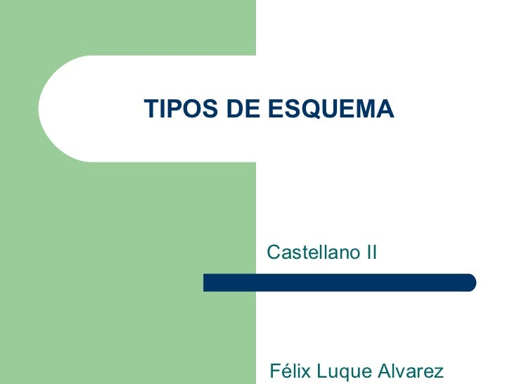 TIPOS DE ESQUEMA Castellano II Félix Luque Alvarez