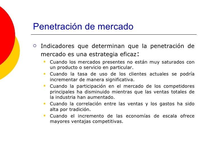 diferentes tipos de penetración