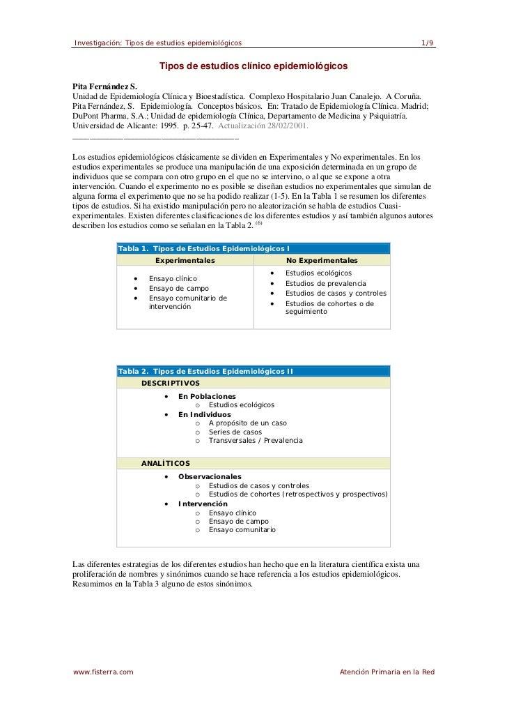 Investigación: Tipos de estudios epidemiológicos                                                             1/9          ...