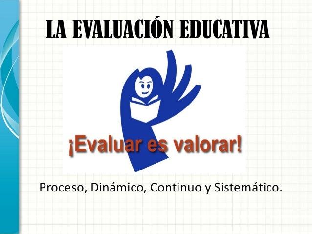 Tipos de evaluación Slide 2