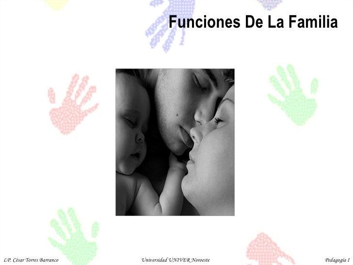 Funciones De La Familia LP. César Torres Barranco  Universidad UNIVER Noroeste  Pedagogía I