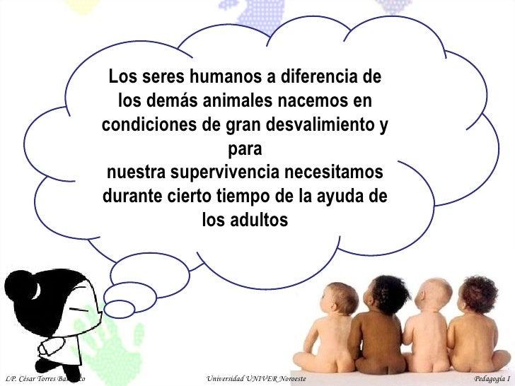 Los seres humanos a diferencia de los demás animales nacemos en condiciones de gran desvalimiento y para nuestra supervive...