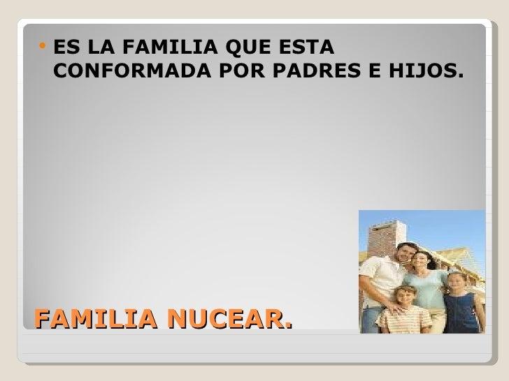    ES LA FAMILIA QUE ESTA    CONFORMADA POR PADRES E HIJOS.FAMILIA NUCEAR.