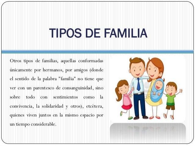 Tipos de familia en la actualidad Tipos de familia nuclear