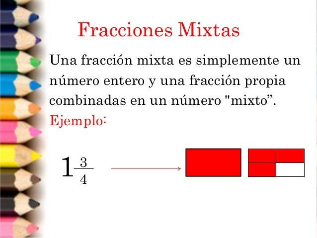 Resultado de imagen para fraccion mixta definicion