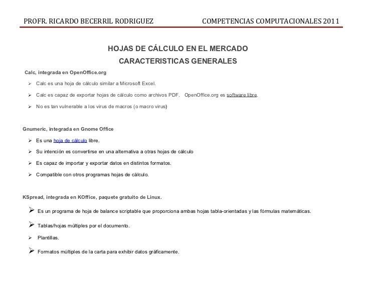 PROFR. RICARDO BECERRIL RODRIGUEZ                                             COMPETENCIAS COMPUTACIONALES 2011           ...