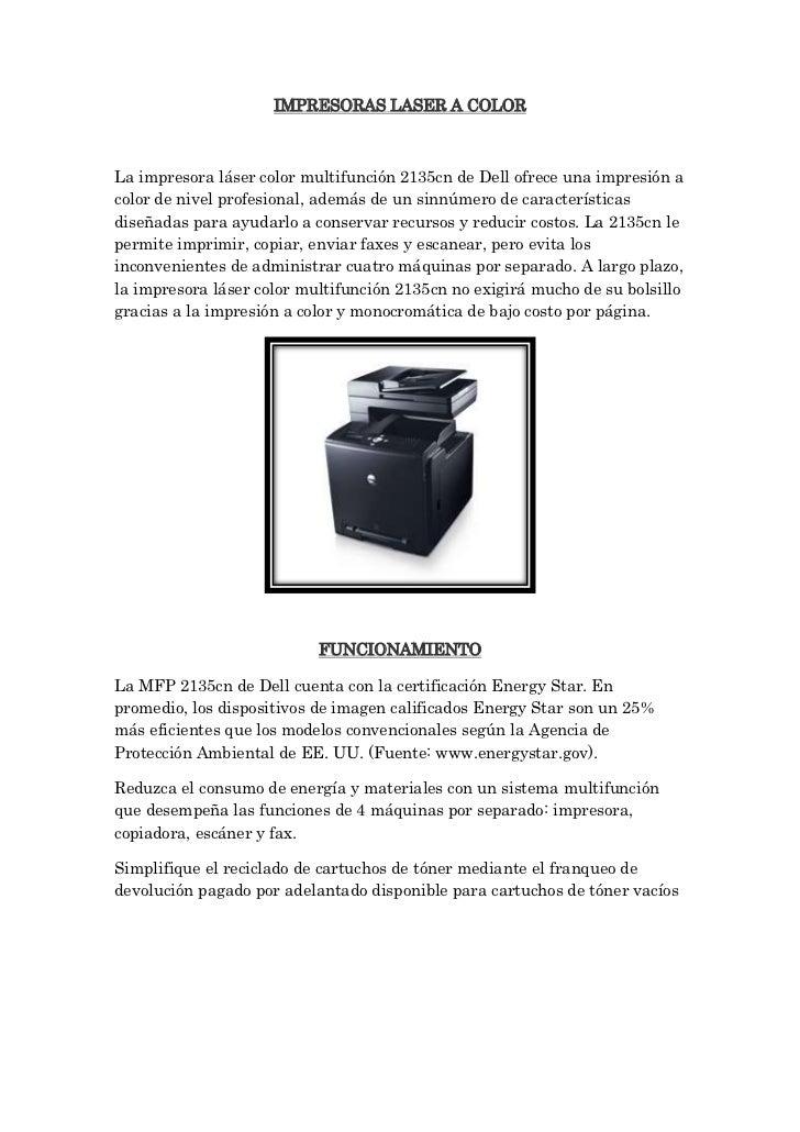 Tipos de impresora luis tercero