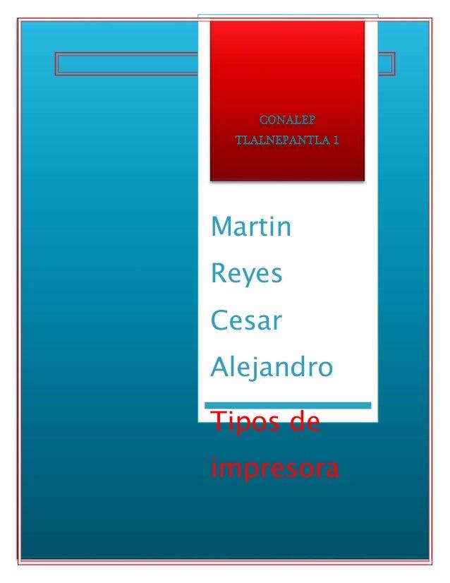 Martin Reyes Cesar Alejandro Tipos de impresora