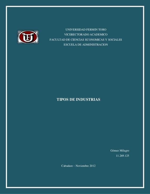 UNIVERSIDAD FERMIN TORO        VICERECTORADO ACADEMICOFACULTAD DE CIENCIAS ECONOMICAS Y SOCIALES        ESCUELA DE ADMINIS...