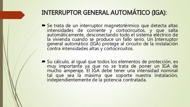 Tipos de instalaciones en viviendas - Interruptor general automatico ...