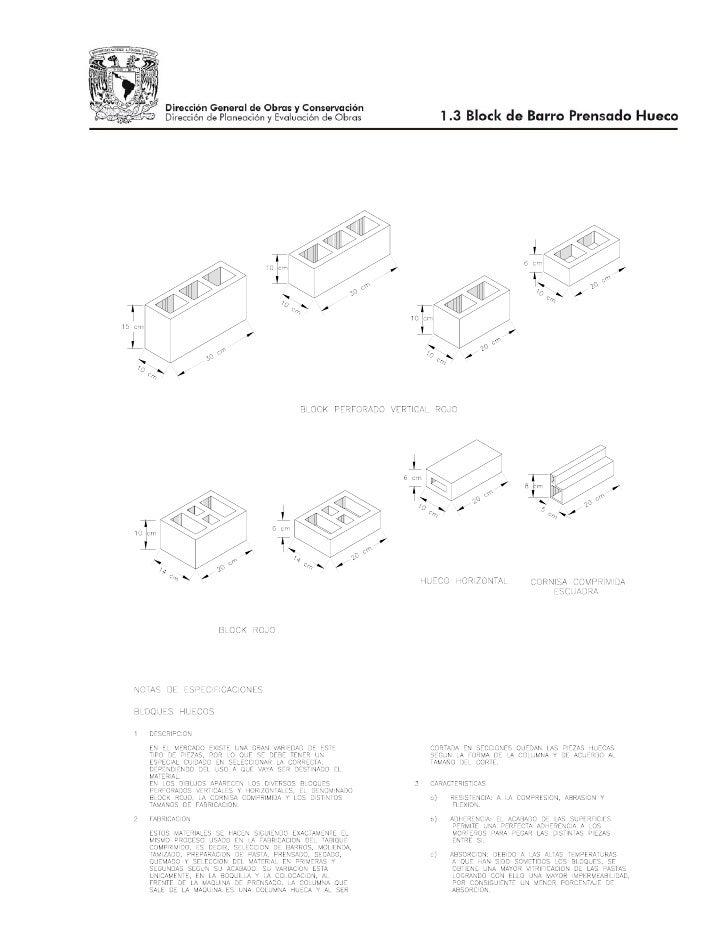 Tipos de ladrillos blocks impermeabilizantes y mas - Tipos de ladrillos ...