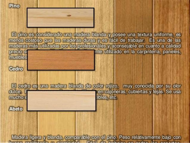 Tipos de madera - Tipos de barnices para madera ...