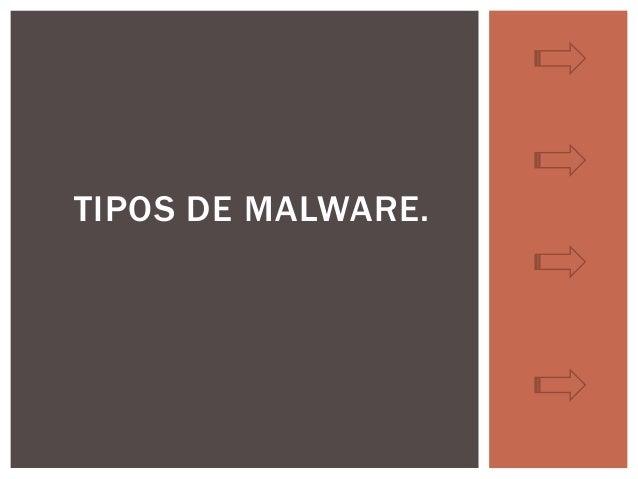 TIPOS DE MALWARE.