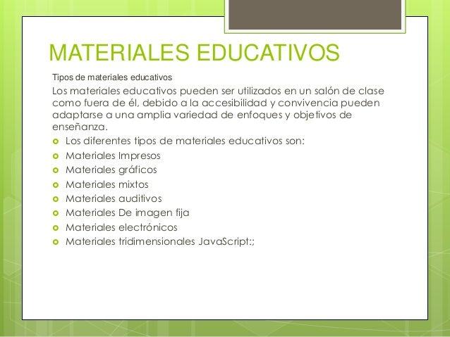 Tipos de materiales educativos - Tipos de estores para salon ...